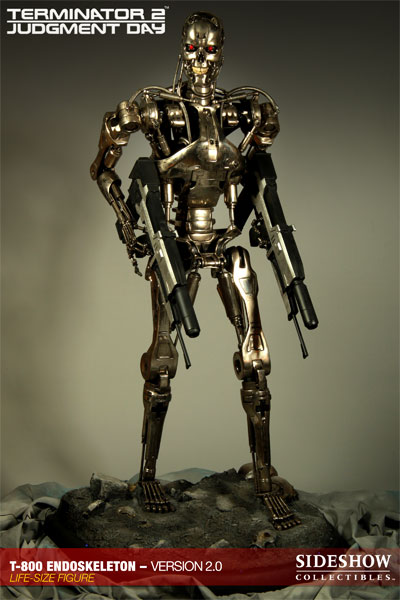 Terminator 2: Judgment Day T-800 Endoskeleton, Version 2.0, Life-Size Figure by Sideshow Collectibles